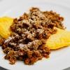 ケチャップで作るカレーミートソースがけオムレツのレシピ
