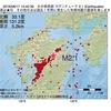 2016年08月17日 15時40分 大分県西部でM2.1の地震