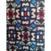 着物生地(411)抽象花模様織り出し銘仙