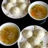 おうちごはん にくまん・野菜スープ