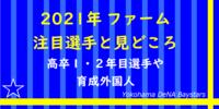 【横浜DeNA】2021年ファーム注目選手と見どころ【2軍】