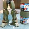 【HG迷彩陸戦型ジム製作記3】ついにジムが迷彩カラーに!タミヤラッカーの実力とは? 迷彩塗装編 前編