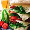 お砂糖なしパンで☆鶏胸肉のカレー唐揚げチーズサンドイッチ