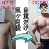 自重トレーニングとプチ食事制限で肉体改造した結果(5ヶ月間まとめ)