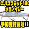 【一誠】浮力チューンされたビッグベイト「G.C.ハスフラット180F 水面ノイジー」通販予約受付開始!