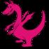 ピンクのドラゴン の無料イラスト
