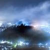 越前大野城の雪化粧
