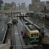 長崎電気軌道(1):雨の朝,200形・300形を撮る。