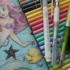 完成】色鉛筆でアリエルの塗り過程(メイキング)紹介です☆アートぬりえArielより