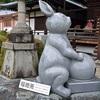三室戸寺の狛兎。福徳兎で運気アップ。