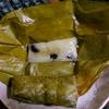 【今日の食卓】カオトムマット(餅米とバナナの蒸し菓子)。タイからの輸入品。