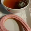 京都紅茶とミスドの苺味