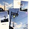 電線のある町