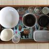 【持たない暮らし】【我が家のお弁当箱紹介】 キッチンにあるスチール棚のばんじゅう2段を整理しました 【ミニマリスト】