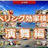 【刀剣乱舞】レベリング効率検証!演舞編