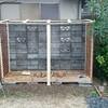 薪ストーブ前史62薪棚の新設④屋根をつけて完成編