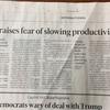 世界経済productivity低下