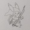 時間が無かったので、書きかけです。リンク装備のイケメンピカ様。 Cool Pikachu, Link style.