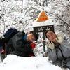 上之保地域内にある唯一の山『城山』で雪山登山