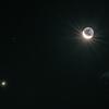 金星と月と