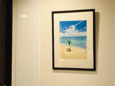 ヤシの実の絵を描きました〜南の島に行きたいな〜