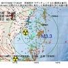 2017年10月02日 17時45分 宮城県沖でM3.3の地震
