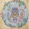 ねむれる森より【フクロウの塗り絵】魔法のイメージで塗ってみた