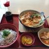 ジョイフルの冬メニュー 「すくい豆富の味噌チゲ鍋と釜揚げしらす丼定食」
