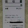 No.29 京浜急行 交通系ICカード チャージ代金領収書