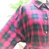 オンブレ格子のシャツワンピース④