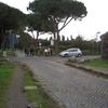 アッピア街道が一旦切れている場所(ローマ)
