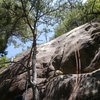 屋根岩2峰南面そらまめスラブ クライミング講習会