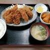 西川口の「あおき食堂」で牛レバカツとピーマン肉詰めフライ定食を食べました★