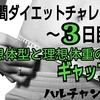 【1週間ダイエットチャレンジ】~3日目~理想体型と理想体重のギャップ。
