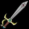 勇者が手にする喋るかわいい剣 のイラスト