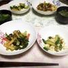 ★くたくた外葉キャベツの野菜炒め&きゅうりとthat's国産卵のジンジャーソテー