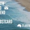 オーストラリアへポストカードを送る