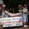 図書館前 桃花台 味岡で 署名活動