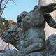 薬師日吉神社の逆立ち狛犬
