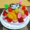 【誕生日】端午の節句の私の61歳の誕生日にサルちゃん手作りのフルーツこれでもかケーキ