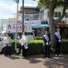 大阪狭山市会議員選挙/ふかえ容子 コノミヤ前宣伝  ふかえ容子にあなたの1票を!