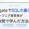 ProgateでSQLの基本を非エンジニア経営者が10時間で学んだ方法