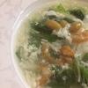 山東菜の干しエビスープあんかけ