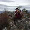 山でラッパを吹いてみました