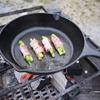 キャンプ飯 何でもお肉を巻いて焼けばキャンプ料理になるんじゃないの。