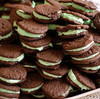 Chocolate-mint cookies