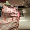 スカート縫い付けてます。〜ぽぽちゃんワンピ〜