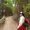 陣馬山 二人連れ  和田峠から神奈川方面 和田林道通行止め