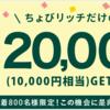 気付いてな〜〜〜い(・_・;)、ちょびリッチ「JALカード」案件土日ポイント増量中