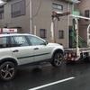 横須賀市からパンクの車検の切れ故障車をレッカー車で廃車の引き取りしました。